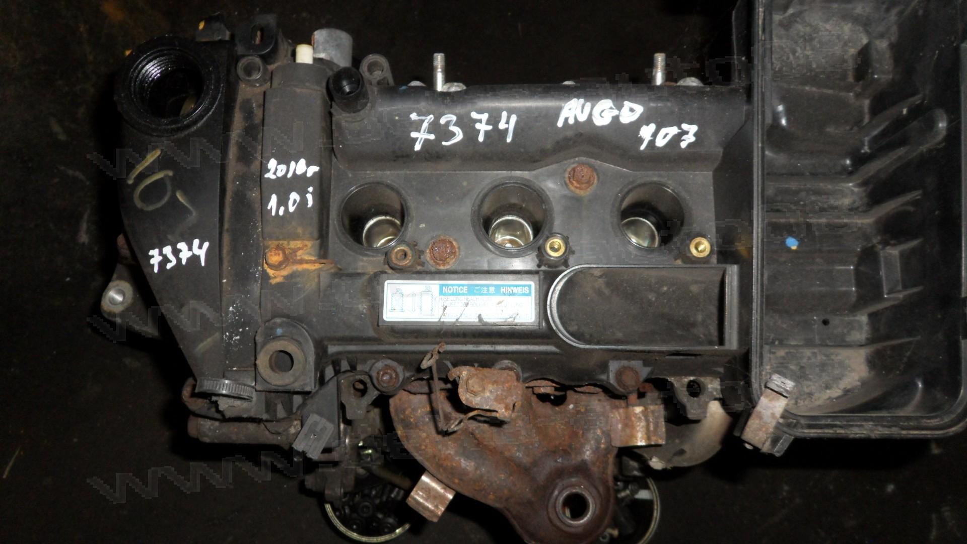 Двигател за Toyota Aygo, Yaris, Peugeot 107, 1.0, 68 к.с., 2005-2014г., 1KR, 1KR-B52